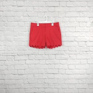 The Limited | Red Scallop Edge Shorts
